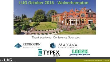 i-UG October 2016 - Wolverhampton