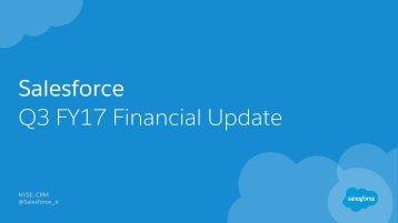 Salesforce Q3 FY17 Financial Update