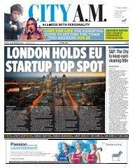 LONDON HOLDS EU STARTUP TOP SPOT