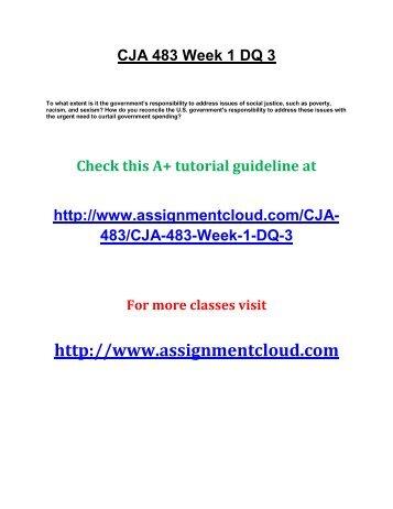 CJA 483 Week 1 DQ 3