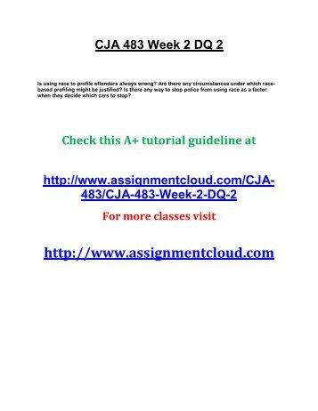 CJA 483 Week 2 DQ 2