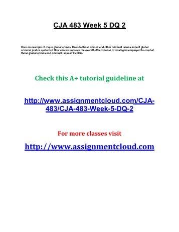 CJA 483 Week 5 DQ 2