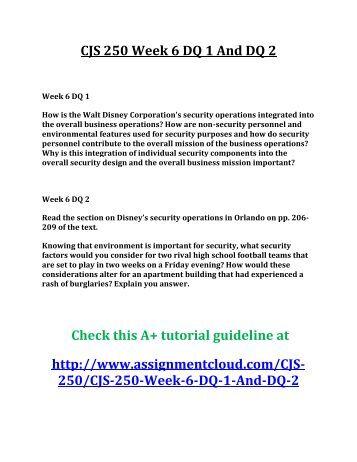 cjs 250 week 4 dq 2 Ese 315 week 4 dq 2 intellectual disabilities  february 2, 2016 | leanbulkcom  ese 631 week 4 dq 1 planning for students with  february 16, 2016 | leanbulkcom.