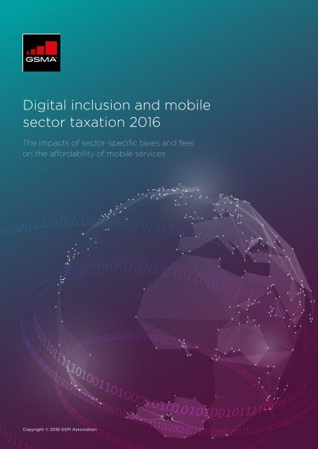Digital inclusion and mobile sector taxation 2016
