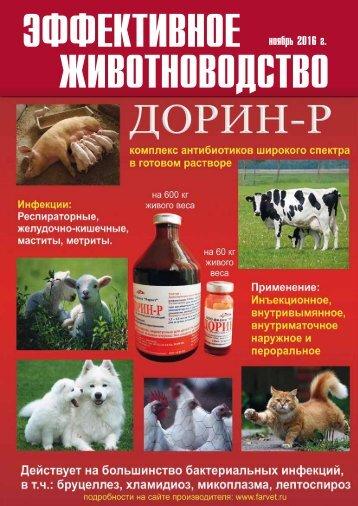 «Эффективное животноводство» №8 (129) 2016