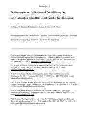 Positionspapier zur Indikation und Durchführung der ...