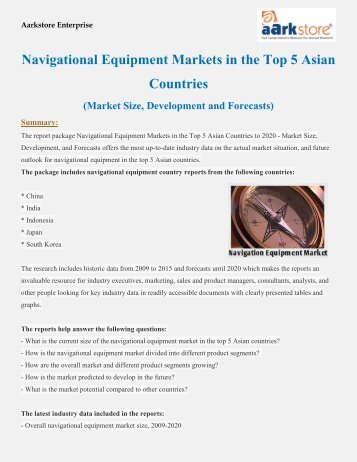 Navigational Equipment Markets in the Top 5 Asian Countries