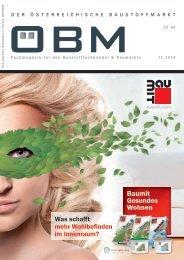 201611 ÖBM Der Österreichische Fachmarkt - Was schafft mehr Wohlbefinden im Innenraum?