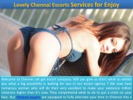 Best Chennai Callgirl Escorts Offer for Gentleman