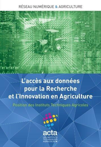 L'accès aux données pour la Recherche et l'Innovation en Agriculture
