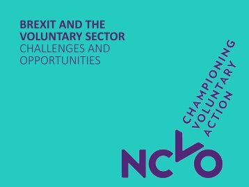 BREXIT AND THE VOLUNTARY SECTOR CHALLENGES AND OPPORTUNITIES