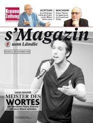 s'Magazin usm Ländle, 20. November 2016