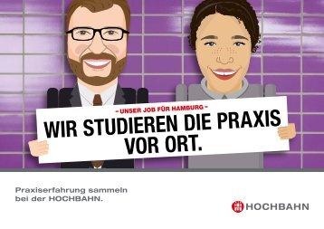 Studierende bei der HOCHBAHN