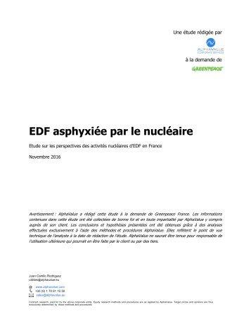EDF asphyxiée par le nucléaire