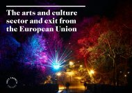 The arts and culture sector and exit from the European Union