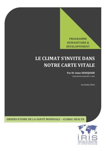 LE CLIMAT S'INVITE DANS NOTRE CARTE VITALE