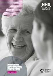 NHSScotland Chief Executive's Annual Report