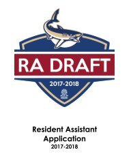 Resident Assistant Application