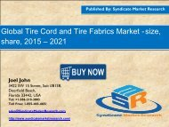 Tire Cord and Tire Fabrics Market