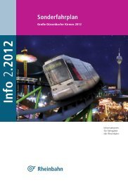 Sonderfahrplan zur Kirmes 2012 - Rheinbahn