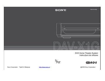 Sony DAV-X1G - DAV-X1G Istruzioni per l'uso Rumeno