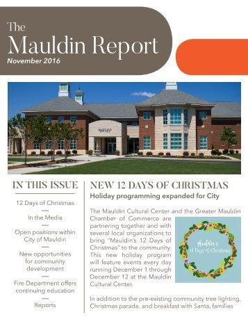 Mauldin Report | November 2016