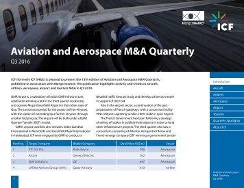 Aviation and Aerospace M&A Quarterly
