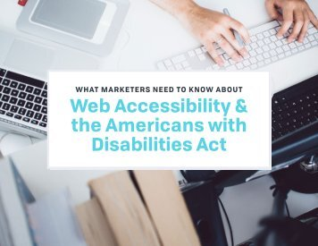 Web Accessibility & the Americans with Disabilities Act