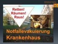 Retten-Räumen-Aus! - Notfallevakuierung Krankenhaus: