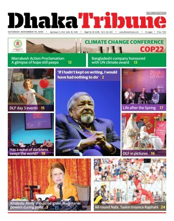 DT e-Paper, Saturday, 19 November, 2016