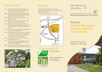 Flyer 40 Jahre Neurologie farbig - Bezirkskrankenhaus Günzburg