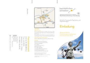 Flyer mit den wissenschaftlichen Veranstaltungen der Klinik für