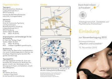 Einladung - Bezirkskrankenhaus Günzburg