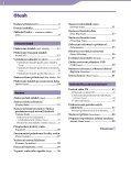 Sony NW-E002F - NW-E002F Istruzioni per l'uso Ceco - Page 4