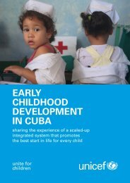 EARLY CHILDHOOD DEVELOPMENT IN CUBA