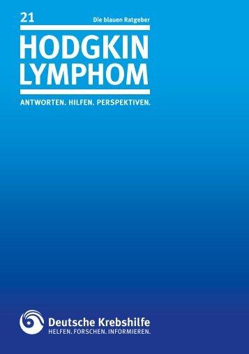 Hodgkin Lymphom - Deutsche Krebshilfe eV