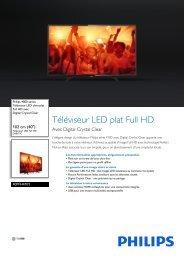Philips TV LED Philips 40PFH4101 FULL HD 200 PPI - fiche produit