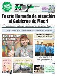 Fuerte llamado de atención al Gobierno de Macri