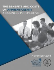 The Benefits and Costs of Apprenticeships A Business Perspective