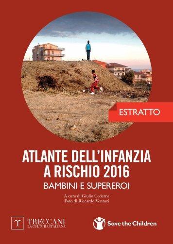 ATLANTE DELL'INFANZIA A RISCHIO 2016