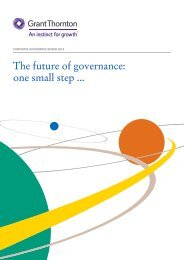 The future of governance one small step ..