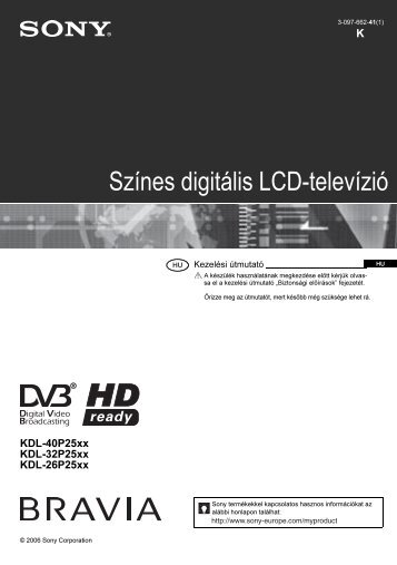 Sony KDL-32P2520 - KDL-32P2520 Istruzioni per l'uso Ungherese