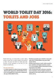 World Toilet Day 2016 Toilets and jobs