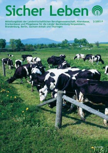 B - Die Landwirtschaftliche Sozialversicherung