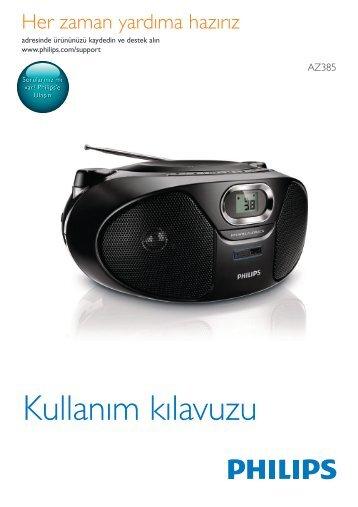 Philips Lecteur de CD - Mode d'emploi - TUR