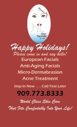 Holiday Facial 2