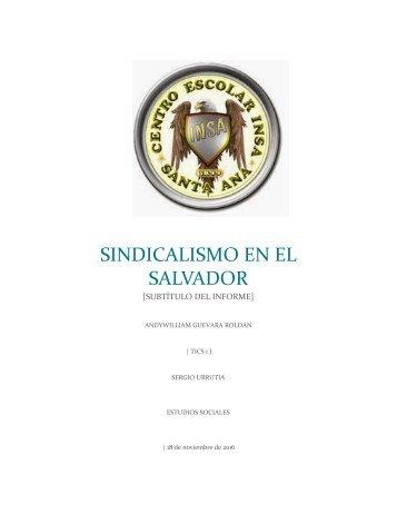 sindicalismos en El Salvador