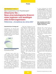 Ätherische Öle – Neue pharmakologische Erkennt - Zentralverband ...