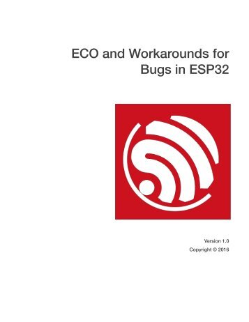 ECO and Workarounds for Bugs in ESP32