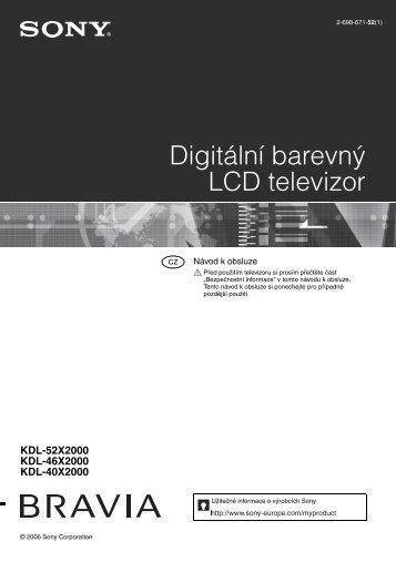 Sony KDL-40X2000 - KDL-40X2000 Istruzioni per l'uso Ceco